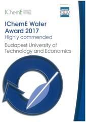 IChemE Water Awards 2. helyezést ért el a VBK oktatói részvételével pályázó csapat